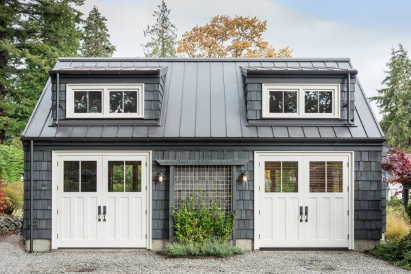 Oversized Loewen Terrace Doors were designed to complete the styling of a \u0027carriage house\u0027 look on the guest cottage. However the doors still function as a ... & Windows \u0026 Doors for the Holidays» Windows Doors \u0026 More